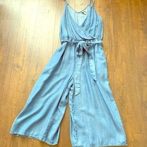 Blue Denim Romper